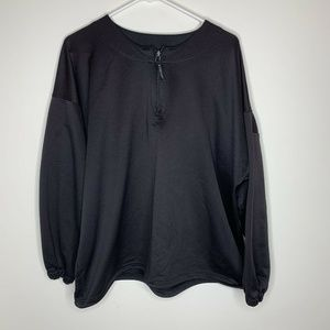SOLD Easton Mens XL Black Long Sleeve Pull Over